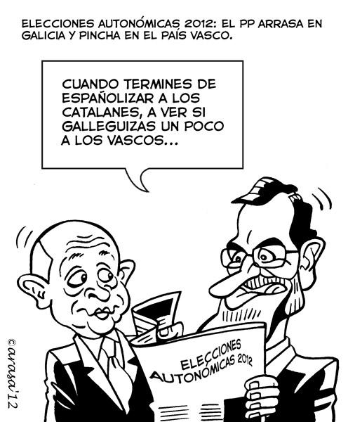 Humor grafico chistes politicos caricaturas Rajoy wert elecciones autonomicas02 Algo de humor (?) gráfico político de actualidad