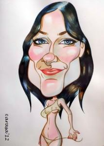 Caricatura de Olivia Wilde