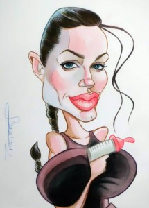 Caricatura rápida de Angelina Jolie