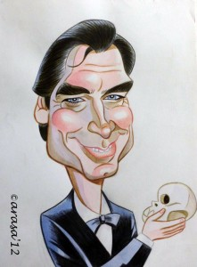 Caricatura de James Bond Timothy Dalton
