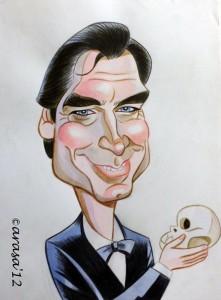 Caricatura de James Bond Timothy Dalton