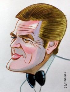 Caricatura James Bond Roger Moore