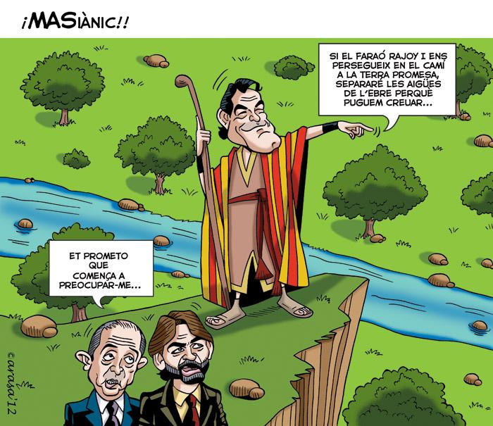 Humor grafico, chistes politicos sobre independencia de Catalunya