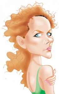 Caricaturas de famosos: Nicole Kidman, digital