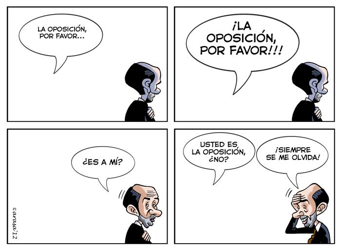 Humor grafico, chistes politicos sobre Rublacaba y su oposición