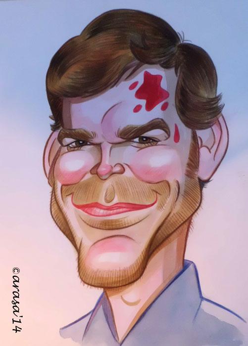 Caricatura de Michael c. Hall, Dexter