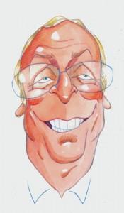 Caricaturas de famosos: Michael Caine, acuarela