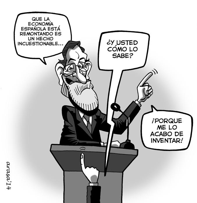 Caricatura sobre la recuperación económica de rajoy