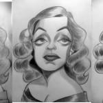 Proceso de Caricatura de Bette Davis