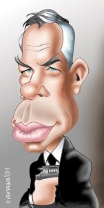 Caricaturas de famosos: Lee Marvin