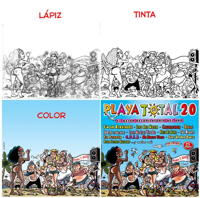 proceso portada Playa Total 20 del 2015
