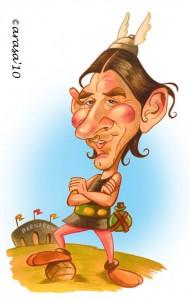 Caricatura acuarela de Messi