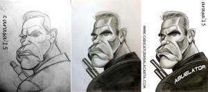 """Proceso de creación de la caricatura de Arnold Schwarzenegger en """"Terminator Génesis"""""""