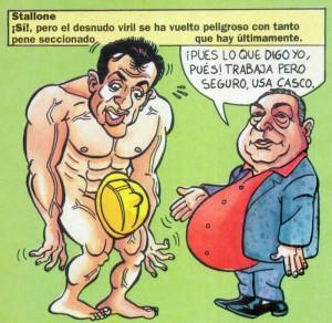 Caricaturas de famosos: Sylvester Stallone digital para El Chou