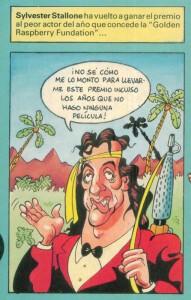 Caricaturas de famosos: Sylvester Stallone digital para Al Ataque