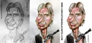 caricaturas-de-famosos-caricatura-rapida-harrison-ford-star-wars-proceso