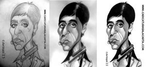 caricaturas_de_famosos_lapiz_blanco_y_negro_caricatura_al_pacino_scarface_proceso