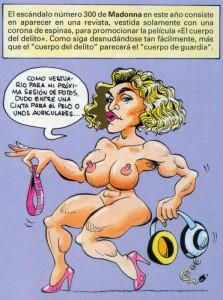 Caricaturas de famosos: Madonna digital para Al Ataque