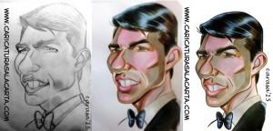 Caricaturas de famosos: Tom Cruise (montaje)