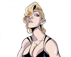 Caricaturas de famosos: Madonna digital
