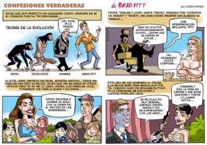 Caricaturas de famosos: Brad Pitt digital para Primera Línea