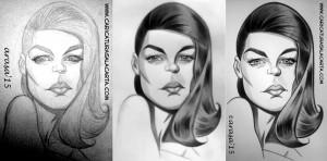 Caricatura de Romy Schneider (proceso)