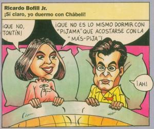 Caricaturas de famosos: Chabeli Iglesias (digital)