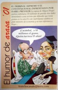 "Caricaturas de famosos: Isabel Preysler en ""Dígame"" (digital)"