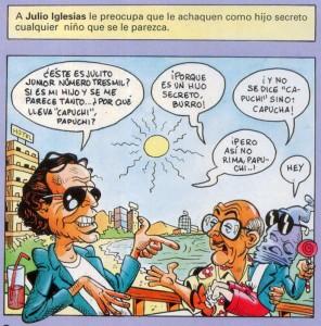 Caricaturas de famosos: Julio Iglesias (digital)