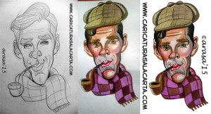 proceso de creación de caricaturas de famosos: Benedict Cumberbatch (Sherlock)