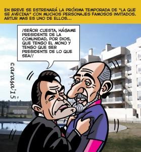 Humor gráfico sobre política con caricaturas: Artur Mas y la CUP