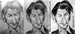 Caricaturas de famosos: Sean Penn (proceso)