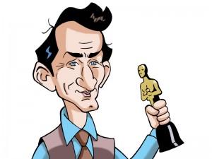 "Caricaturas de famosos: Sean Penn en ""Milk"" (digital)"