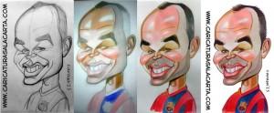 Caricaturas de futbolistas: Andres Iniesta (proceso de creación)
