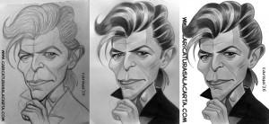 Caricaturas de famosos: David Bowie (proceso de creación)