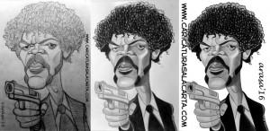 Caricaturas de famosos: Samuel L. Jackson (proceso de creación)
