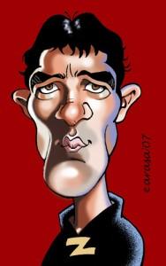 """Caricaturas digitales de famosos: Antonio Banderas """"Zorro"""""""