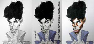 Caricaturas de famosos: Prince (proceso de creación)