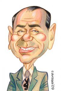 Caricaturas de famosos políticos: Silvio Berlusconi
