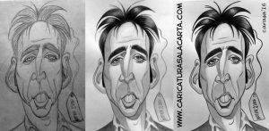 Caricaturas de famosos Nicolas Cage (proceso de creación)