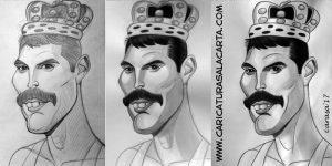 Caricaturas de cantantes famosos: Freddie Mercury (proceso de creación)