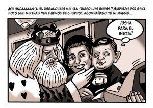 Ilustraciones con caricaturas personalizadas digitales para cómic. Reyes Magos