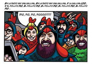 Ilustraciones con caricaturas personalizadas digitales para cómic. Carnaval