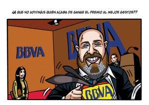 Ilustraciones con caricaturas personalizadas digitales para cómic. BBVA