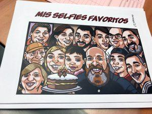 Ilustración para cómic de cumpleaños: Impreso