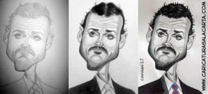 Caricaturas de famosos futbolistas: creación de la caricatura del entrenador Luis Enrique