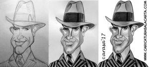Caricaturas de famosos: Warren beatty (proceso de creación)
