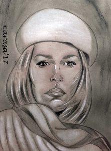 Ilustraciones de famosos: Faye Dunaway