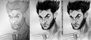 Caricaturas de famoso: Hugh Jackman (Lobezno). Proceso de creación