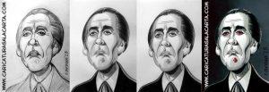 Caricaturas de famosos: Christopher Lee (Drácula, Star Wars, El señor de los anillos) Montaje creación